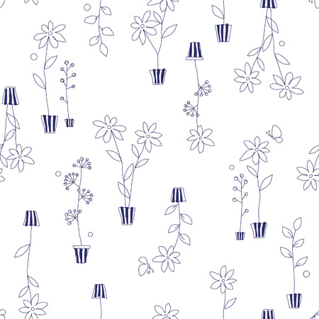 simplification: Garden plant pattern