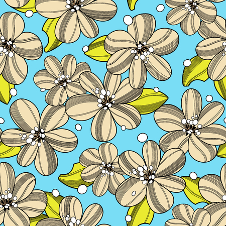 repeated: Abstract flower pattern