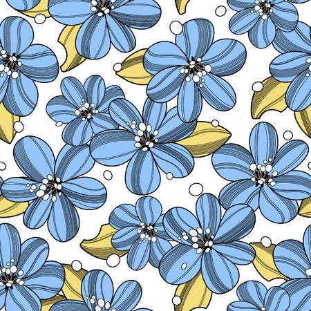 Abstract bloempatroon Stock Illustratie