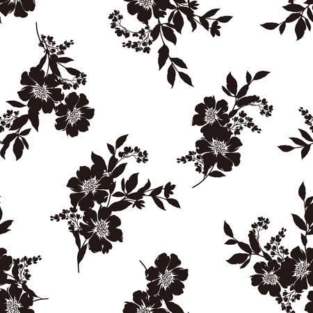 花のイラスト柄  イラスト・ベクター素材