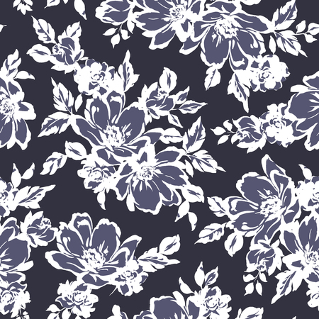 Flower illustration pattern 版權商用圖片 - 85062363