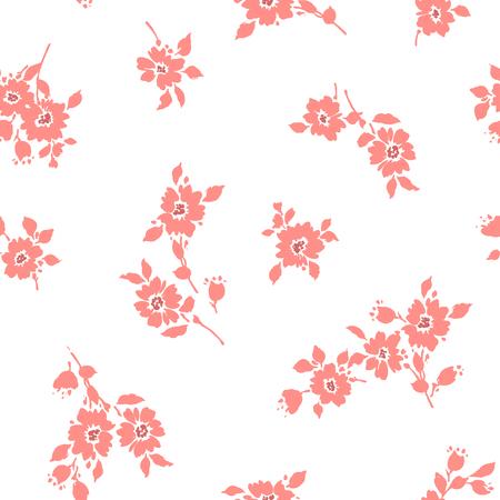 Flower illustration pattern 版權商用圖片 - 85541187