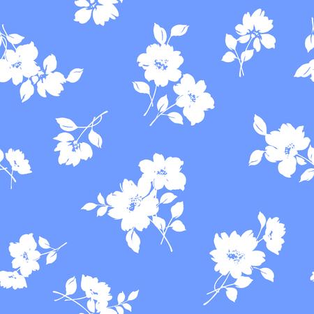 repeated: Flower illustration pattern