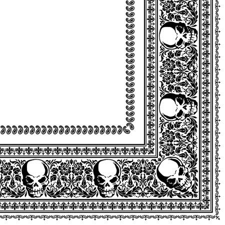 Schedel Bandana Stock Illustratie