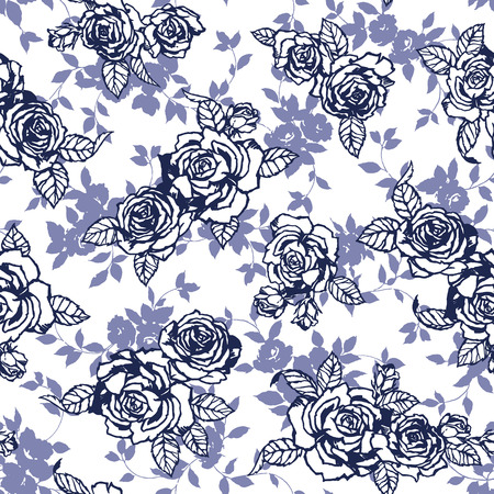 バラのイラスト パターン、ベクトル図です。