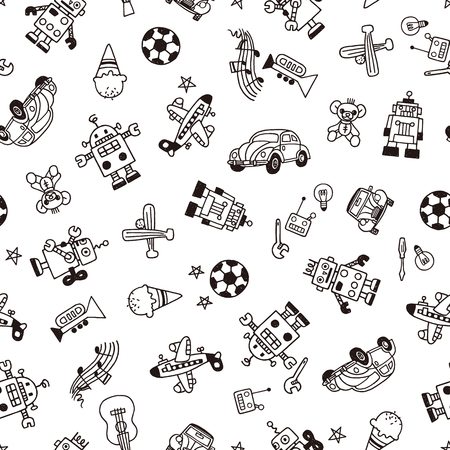 Illustration pattern of the toy Фото со стока - 86628332