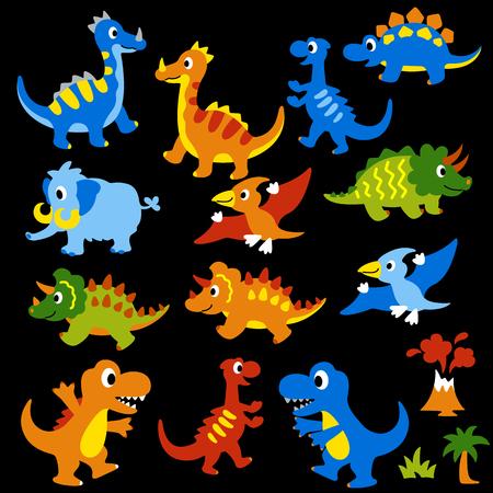 Illustration of a pretty dinosaur