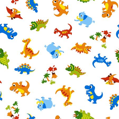 かわいい恐竜のパターン