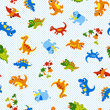 Pattern of a pretty dinosaur