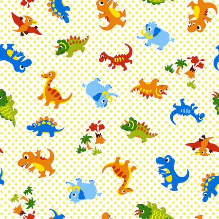 Patroon van een mooie dinosaurus Stock Illustratie