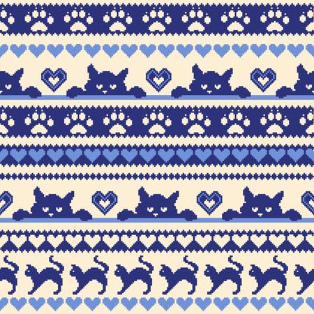Cat Nordic  pattern illustration