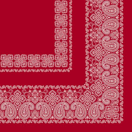 Sjaal ornament ontwerp Stock Illustratie
