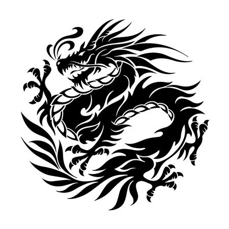 龍の図オブジェクト  イラスト・ベクター素材