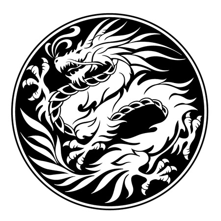 Dragon illustratie-object Stockfoto - 87658895