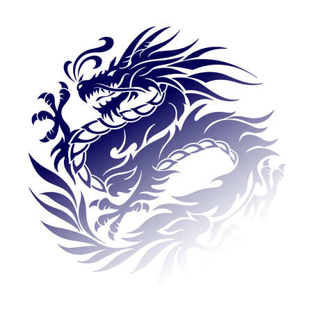 Oggetto illustrazione del drago