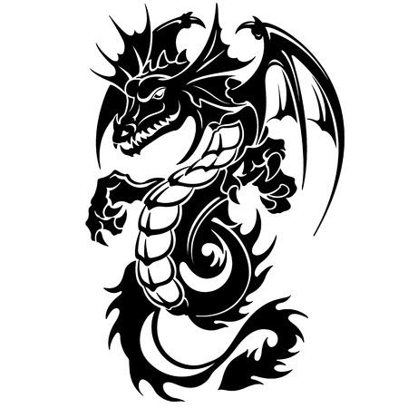 Dragon illustration Banque d'images - 87659015