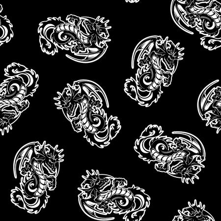Dragon pattern illustration Çizim