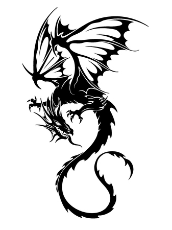 Dragon illustratie-object