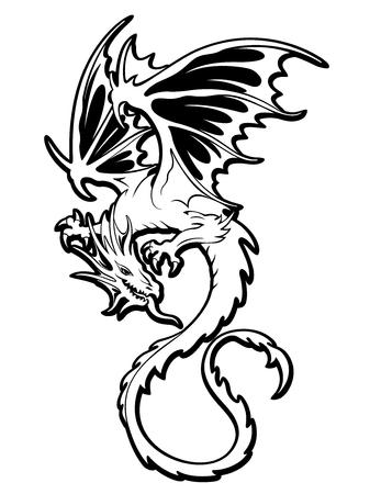 Objet d'illustration Dragon Banque d'images - 87659385
