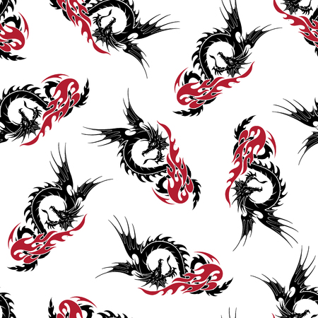 Dragon illustratie patroon Stockfoto - 88046323