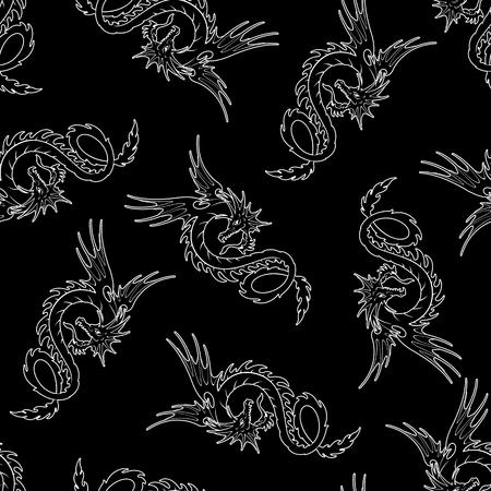 Dragon illustration pattern
