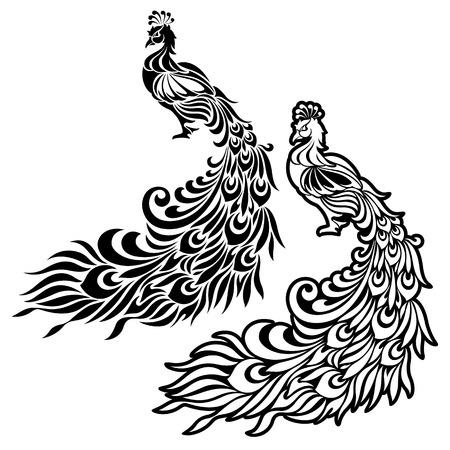 Illustratie van de pauw, Stock Illustratie