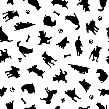 Dog illustration pattern, 向量圖像