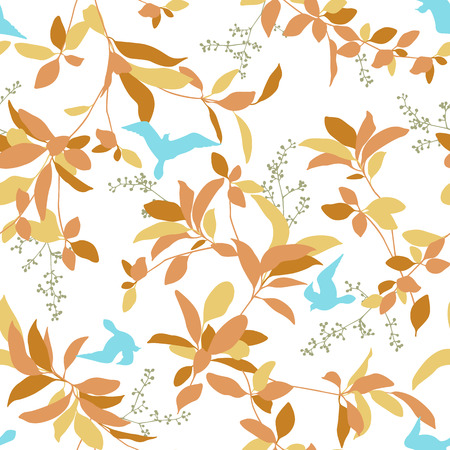 Leaf illustration pattern. It was simple and expressed a leaf These designs continue seamlessly