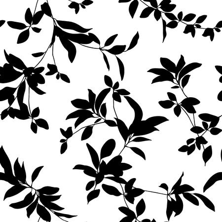 Blad illustratie patroon. Het was eenvoudig en drukte een blad uit. Deze ontwerpen gaan naadloos verder Stock Illustratie