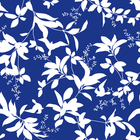 Leaf illustration pattern. It was simple and expressed a leaf These designs continue seamlessly 版權商用圖片 - 91015413