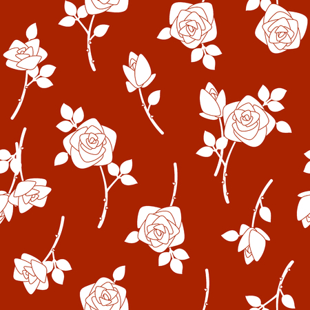 Rose illustration pattern. I designed a rose I worked in vectors This painting continues repeatedly seamlessly