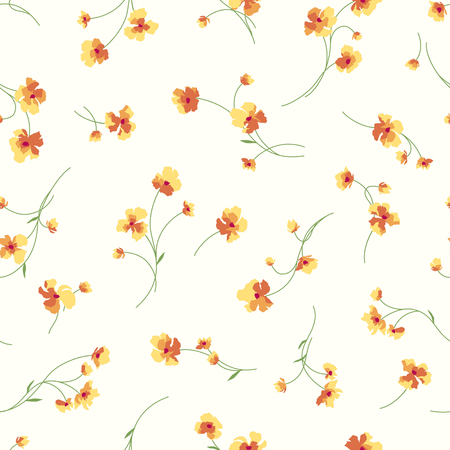 Flowers background vector illustration pattern.