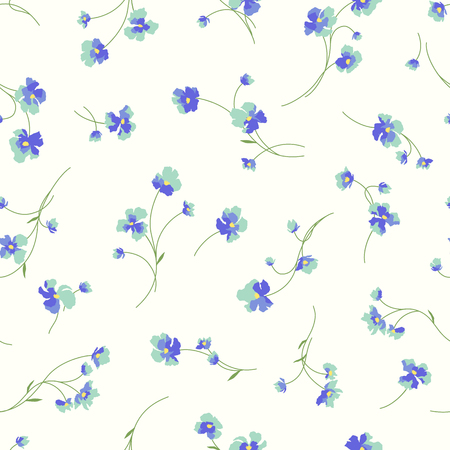 Flowers background vector illustration pattern