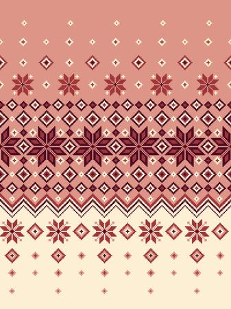 Nordic pattern illustration Vettoriali