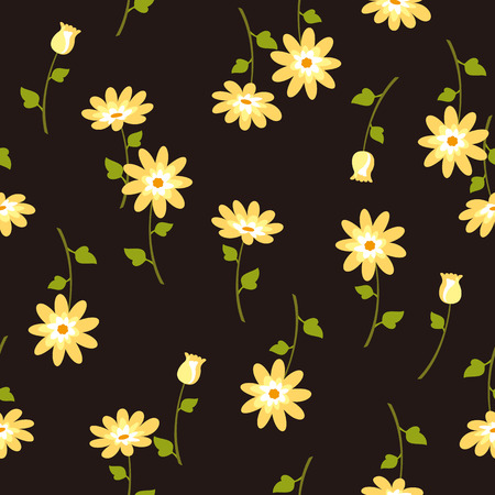 Abstract flower pattern. Illustration