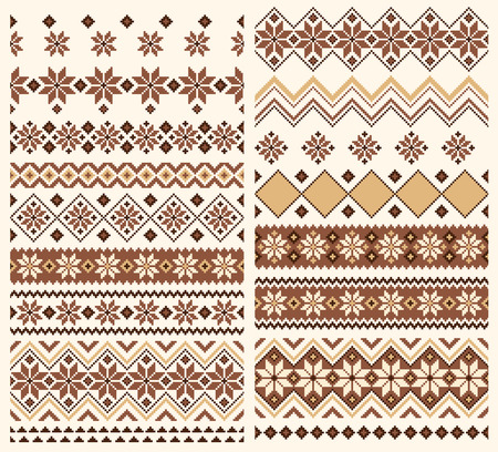 Nordic tradition object; geometrical shapes in borderless pattern.