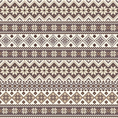 Nordic pattern illustration. Illustration