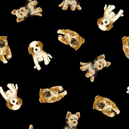 Pretty dog pattern 版權商用圖片