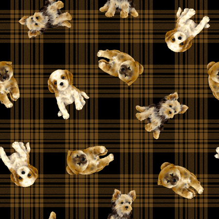 Pretty dog pattern 写真素材
