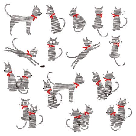 Pretty cat illustration, 일러스트