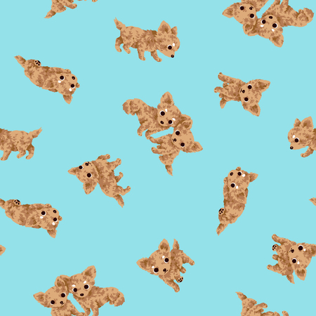 Dog illustration pattern. 向量圖像