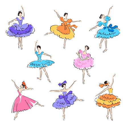 Illustration of the ballerina, I drew a beautiful ballerina, 向量圖像