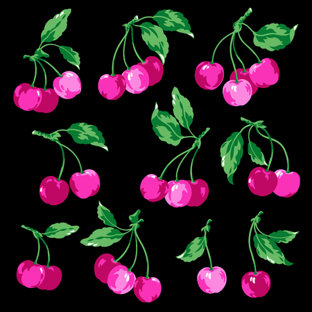 Illustration of the cherry, I drew a cherry,