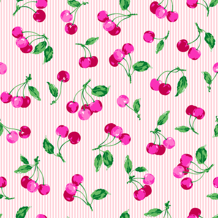 The pattern of the cherry, I made a cherry a seamless pattern,