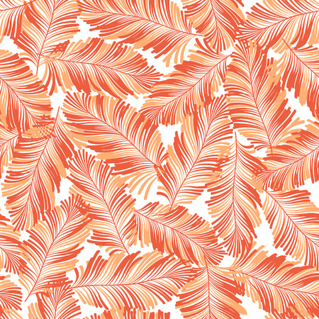 Tropical plants pattern, I designed a tropical plant This painting continues repeatedly, It is a vector work. Illustration