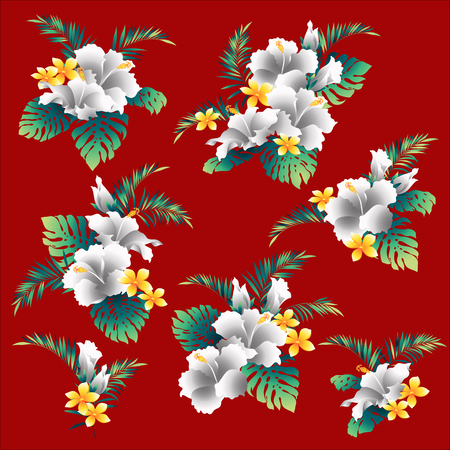 Hibiscus flower illustration I drew Hibiscus for designing it, It is a vector work.