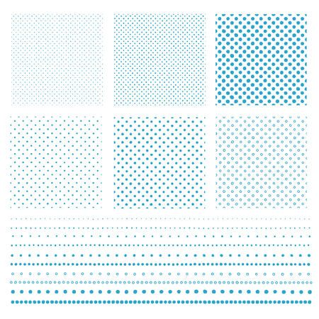The pattern of the polka dot collapsed,   distorted circle   pattern, Vector illustration.