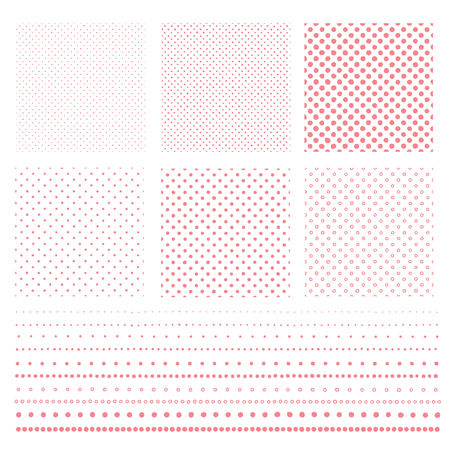 The pattern of the polka dot collapsed,  distorted circle   pattern, Vector illustration.  イラスト・ベクター素材