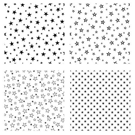 折りたたまれた星のパターン、歪んだ円のパターン、ベクトルのイラスト。