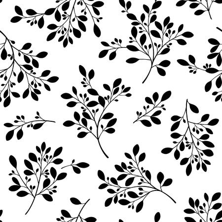 Abstract plants illustration. Seamless pattern vector illustration
